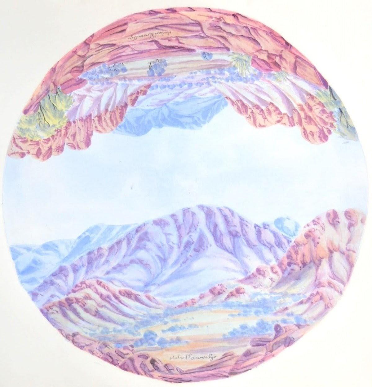hubert pareroultja mt giles macdonnell ranges circular landscape