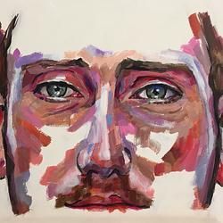 (CreativeWork) Vivid 1 by Kate Gradwell. Acrylic. Shop online at Bluethumb.
