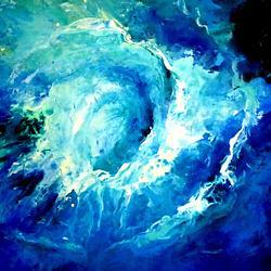 (CreativeWork) Ocean Swirl by Leeka Gruzdeff. Acrylic. Shop online at Bluethumb.