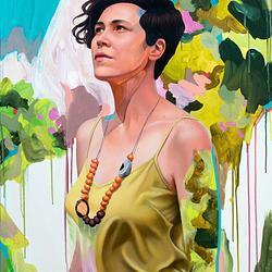 (CreativeWork) Tamara  by Kim Leutwyler. Oil. Shop online at Bluethumb.