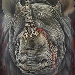 (CreativeWork) BLACK BLOOD by Nicolee Payne. Oil. Shop online at Bluethumb.