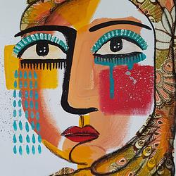 (CreativeWork) Hope in Paisley by Amani Haydar. Mixed Media. Shop online at Bluethumb.