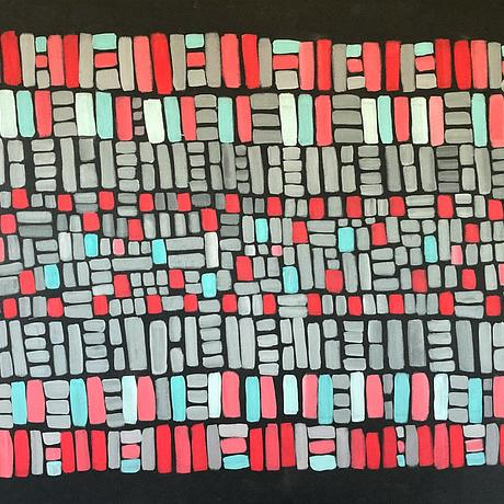 (CreativeWork) Almost Aztec by natalie green. Acrylic. Shop online at Bluethumb.