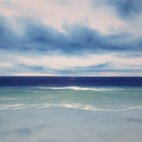 (CreativeWork) East Coast Blues by Phillip McKay. Oil. Shop online at Bluethumb.