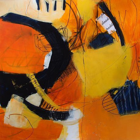 (CreativeWork) Marmalade Sunset by Karen Hammat. Mixed Media. Shop online at Bluethumb.