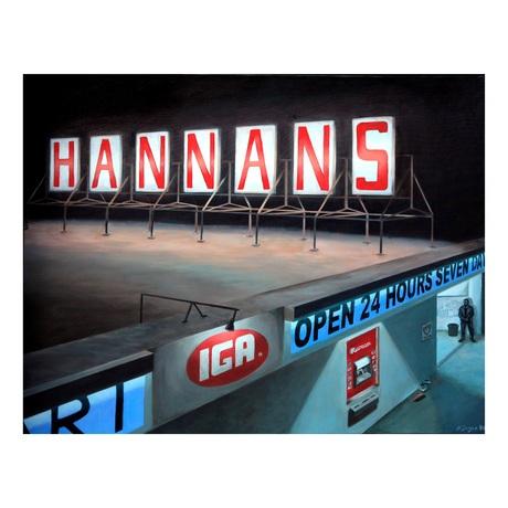 Hannans store at night