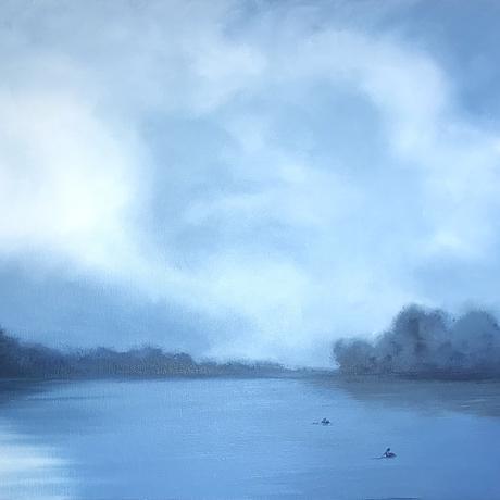 Moonlight shimmering on the Murray River