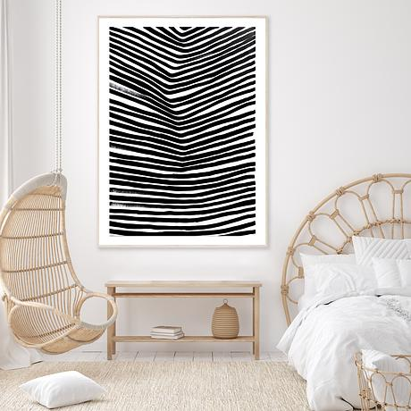 Black lines following a movement of the land.