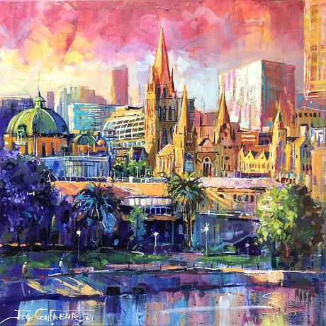 City of Melbourne in colourful style.