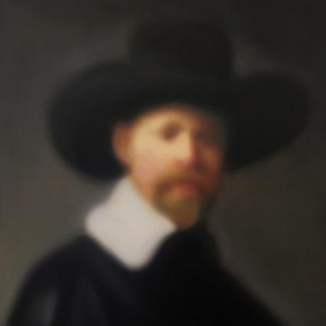 Blurred Old Master baroque portrait.