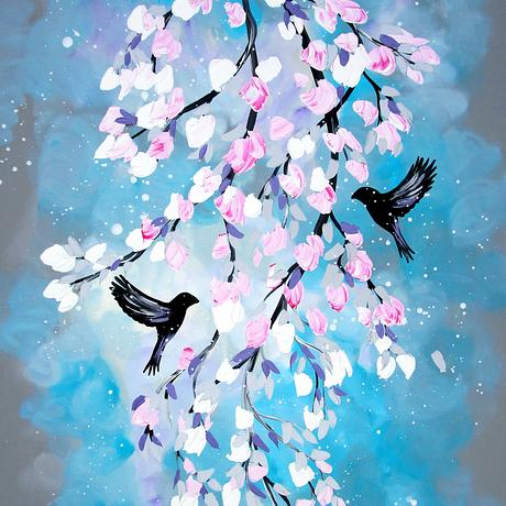 """This is a striking canvas painting with tasteful colours.  The paint is high quality acrylic and the flowers have textured elements!  It will add a beautiful statement to your home.  +++++++++++++++++++++++++++++++++++++++++++  SIZE:  This is a LARGE canvas. It is 36 inches x 24 inches (90cm x 60cm ).  It is 0.6 inches (1.5 cm ) deep  Please use the measurements rather than the photos to judge the size.  +++++++++++++++++++++++++++++++++++++++++++  EXTRA INFO:  * Sides are always painted and staples are always in the back.  * It will arrive """"ready to hang"""" straight out of the box!  * The canvas has sustainable timber supports inside it.  * I take pride in ensuring that all of my creations are exceptional!  ++++++please favorite me so that you can find me again+++++++++++++"""