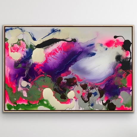 Multicolored textural abstract