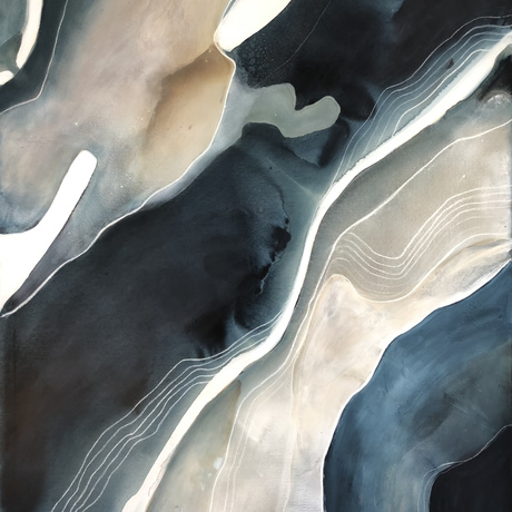 Abstract landscape representing a deep water creek