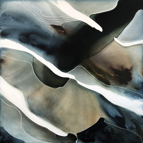 Abstract landscape representing  a stream