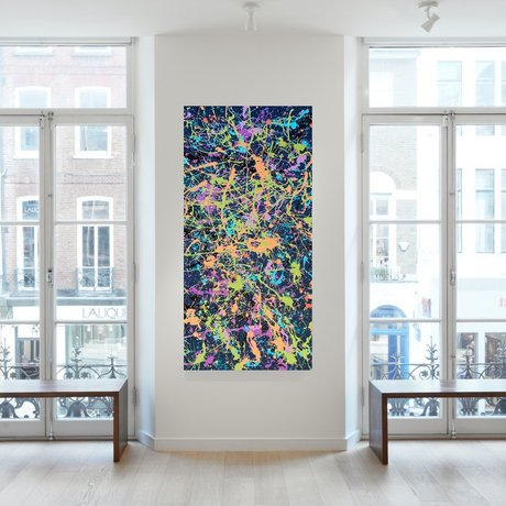Bold bright colourful modern abstract art
