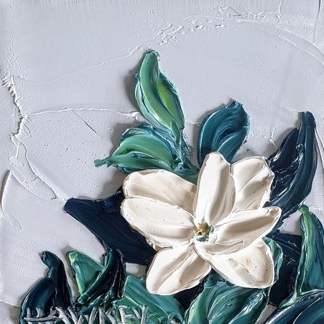 White, roses, garden, landscape