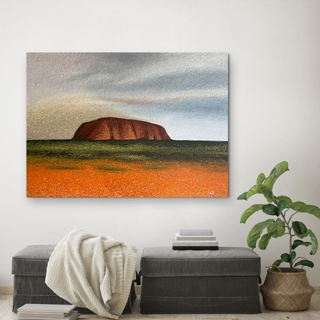 abstract painting of Australian outback