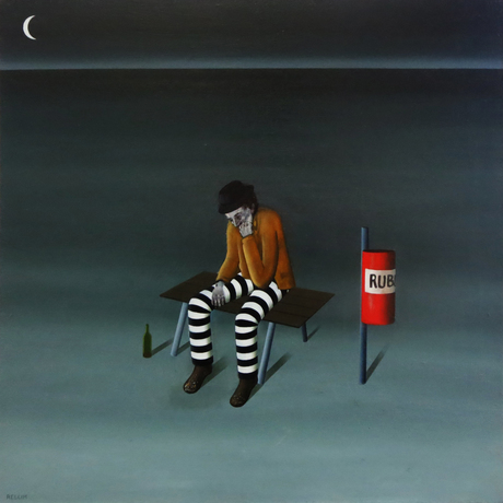"""(CreativeWork) """"Desolate nights"""" by David Rellim. Oil. Shop online at Bluethumb."""