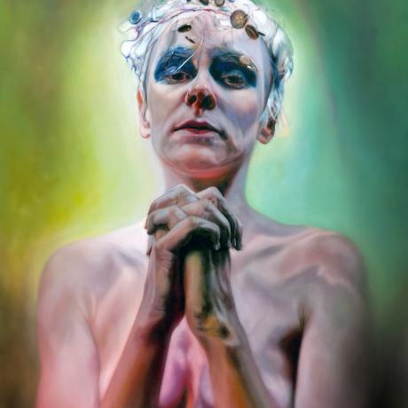 (CreativeWork) Stigmata by Mertim Gokalp. Oil. Shop online at Bluethumb.