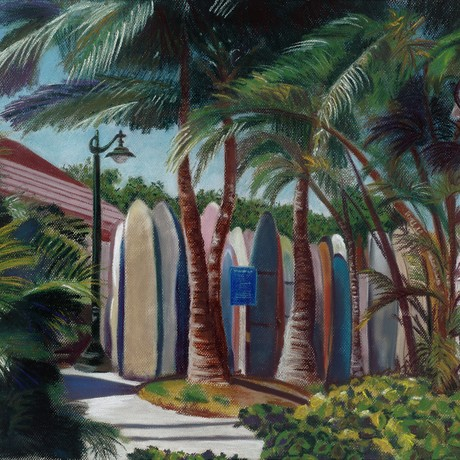 (CreativeWork) Hawaii I - Framed by Julie Toffolo. Drawing. Shop online at Bluethumb.