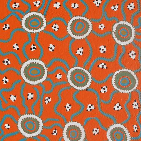 (CreativeWork) Seed Dreaming by Molly Napurrurla Tasman. Acrylic. Shop online at Bluethumb.