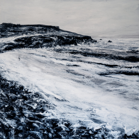 (CreativeWork) Boulders in winter - 2018 by Fredrick Wales. Acrylic. Shop online at Bluethumb.