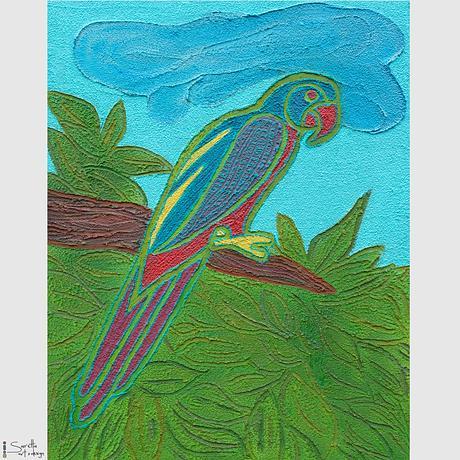 (CreativeWork) Dhuwulung - Lorikeet by Saretta Fielding. Mixed Media. Shop online at Bluethumb.