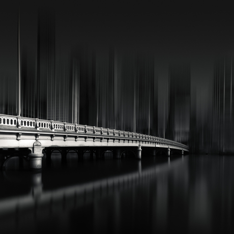 Bridge crossing a river to the city