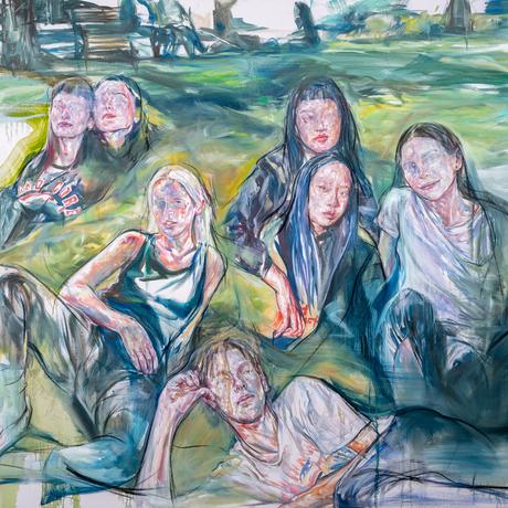 (CreativeWork) Uncanny candidness (Edinburgh gardens) by Hyunji Kim. Oil. Shop online at Bluethumb.