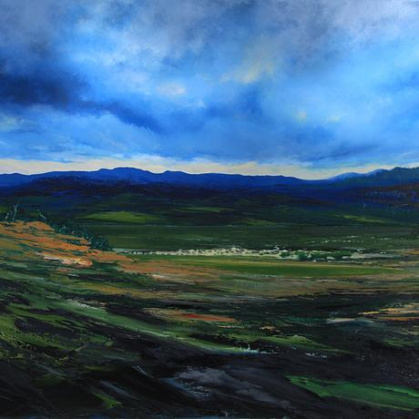 (CreativeWork) From the Midlands by Phillip McKay. Oil. Shop online at Bluethumb.