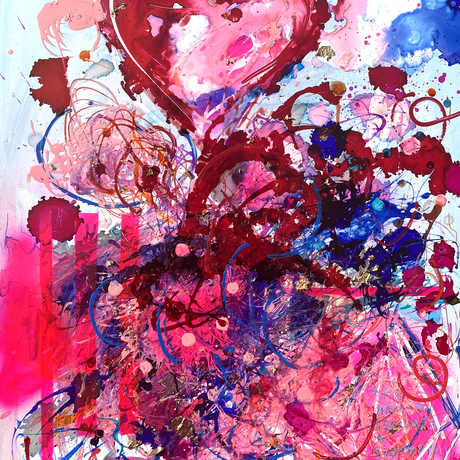 (CreativeWork) Diamonds (under pressure) by Cameron Holmes. Mixed Media. Shop online at Bluethumb.
