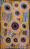 Concentric circles, dot painting, yellow, gold, orange, pink, blue, white, tjarlirli art, kaltukatjara art, indigenous art, aboriginal, story, art, songlines, female artist, storytelling, dot painting, western desert art