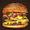 Large cheeseburger with pickles