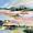 (CreativeWork) Cherry Pink Sunrise by Linda Olstein. Acrylic. Shop online at Bluethumb.
