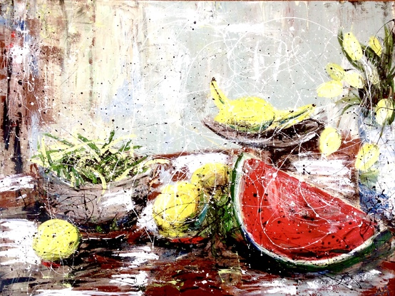 (CreativeWork) Light and fresh by Anita Parker. Acrylic. Shop online at Bluethumb.