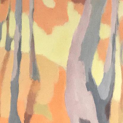 (CreativeWork) The Gathering by Kristine Ballard. Oil. Shop online at Bluethumb.