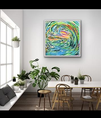 (CreativeWork) The Storm The Entrance NSW 2021 by Carmen Jackson Art. Oil. Shop online at Bluethumb.