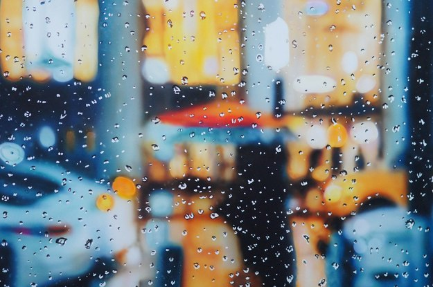 (CreativeWork) Red Umbrella by Todd Simpson. Acrylic. Shop online at Bluethumb.