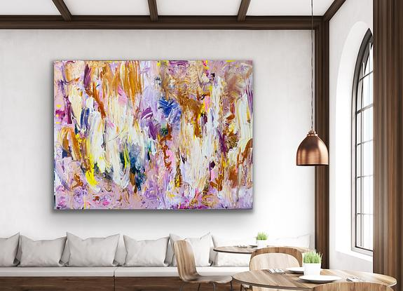 textured mauve and lavender abstract art