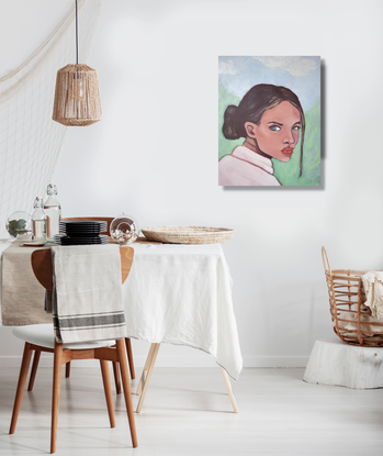 (CreativeWork) On The Hill by Brianna Gittos. Oil. Shop online at Bluethumb.