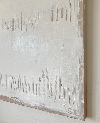 (CreativeWork) CHALK - WHITE TEXTURE ABSTRACT  by Serena Elle. Mixed Media. Shop online at Bluethumb.