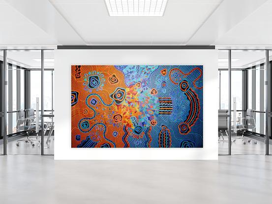 (CreativeWork) My Home by Kelilah Taylor-Ware. Acrylic. Shop online at Bluethumb.