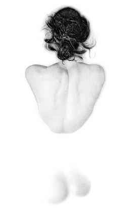 (CreativeWork) Submerged - Bare Opacity Series by Mariya Rovenko. Drawing. Shop online at Bluethumb.