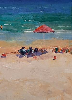 (CreativeWork) Just Chillin. Moreton Island. Qld by Barry Back. Acrylic. Shop online at Bluethumb.