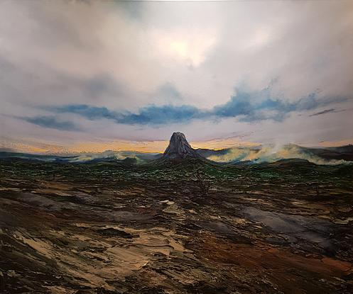 (CreativeWork) Bar Bluff by Phillip McKay. Oil. Shop online at Bluethumb.