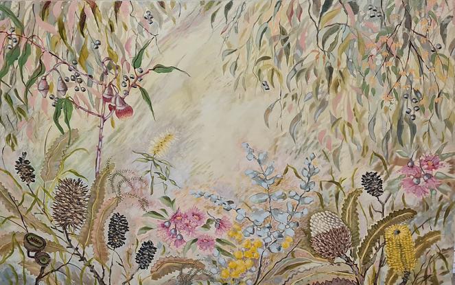 (CreativeWork) Bushflowers XL by Karen Cipressi. Oil. Shop online at Bluethumb.