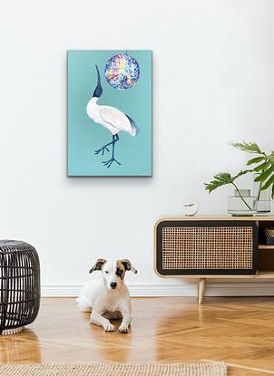 (CreativeWork) Dance White Bird Dance by Kylee Rees. Acrylic. Shop online at Bluethumb.