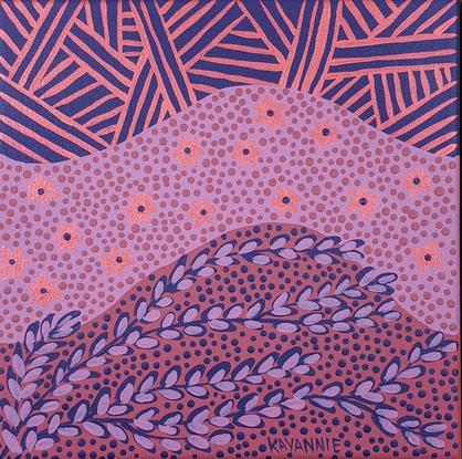 (CreativeWork)  My Country mini  16 (2021)  by Kayannie Denigan. Acrylic. Shop online at Bluethumb.