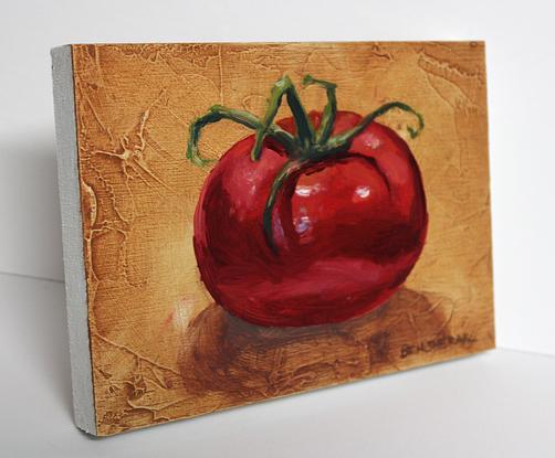 (CreativeWork) Tomato Study 2 by Ben Sherar. Oil. Shop online at Bluethumb.