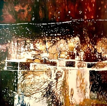 (CreativeWork) TARPEIAN SERIES no 4 by LOUISE GROVE WIECHERS. Acrylic. Shop online at Bluethumb.